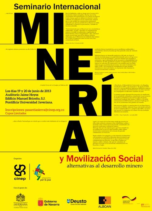 AFICHESeminarioInternacionalMineria2013