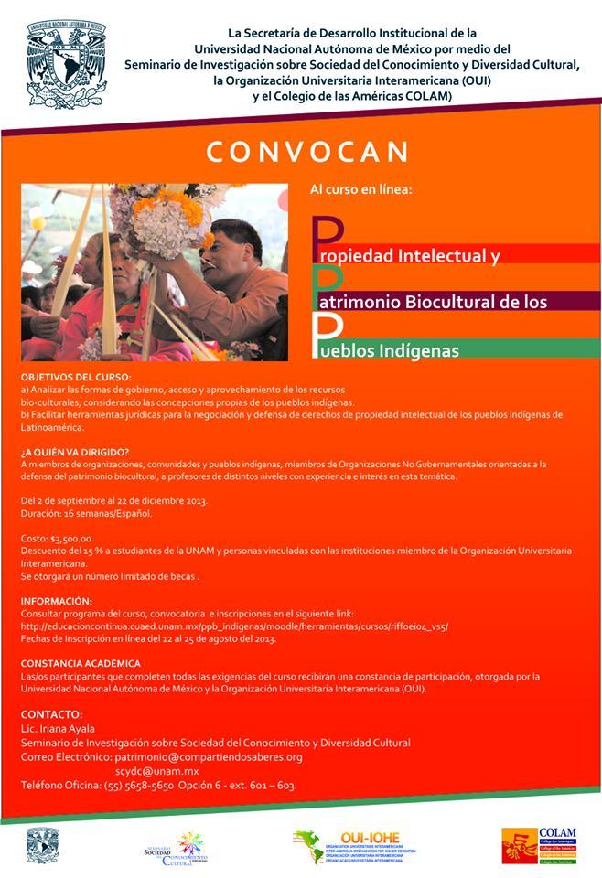 curso-propiedad-intelectual UNAM 2013