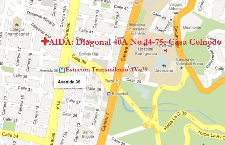 Mapa ubicación Casa Colnodo