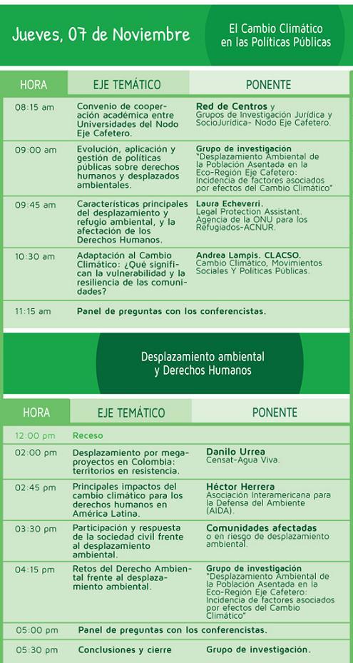 programacion-dia-2 Desplazamiento Ambiental 2013