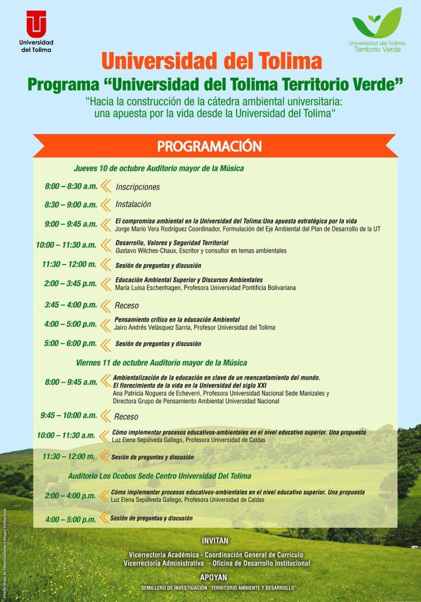 Afiche Cátedra Ambiental 2013 Tolima