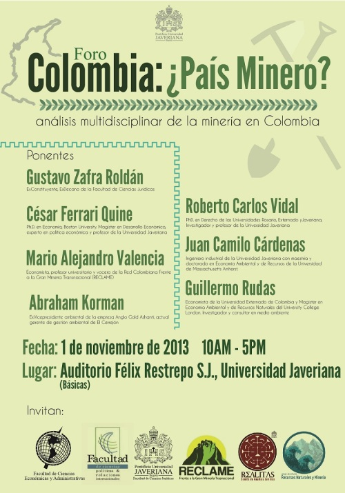 afiche mineríaJaveriana2013