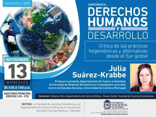 Conferencia Derechos Humanos y Desarrollo 2013