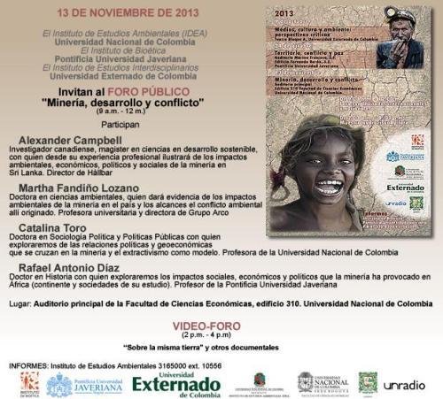 Foro Publico sobre Mineria UNAL 2013