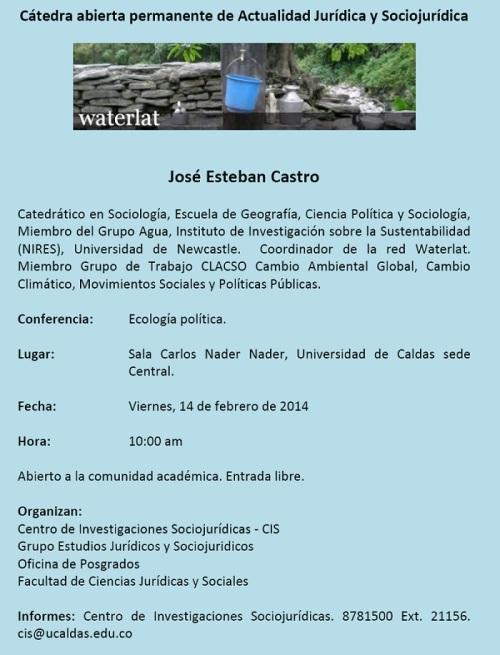 Evento Ecologia Politica 2014 U Caldas