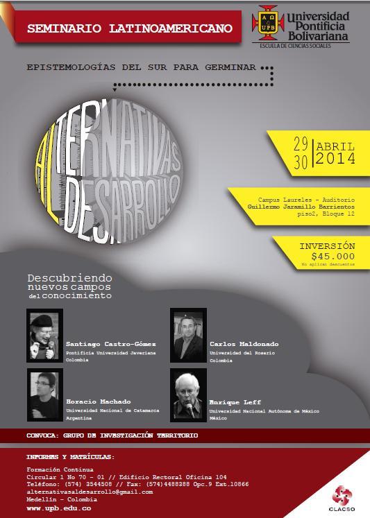 Seminario Latinoamericano epistemologias del sur 2014