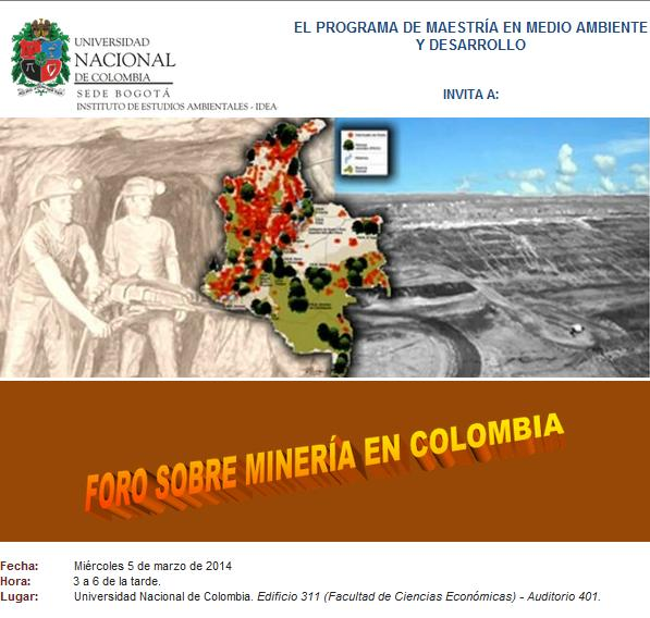 Foro sobre Mineria U Nacional 2014