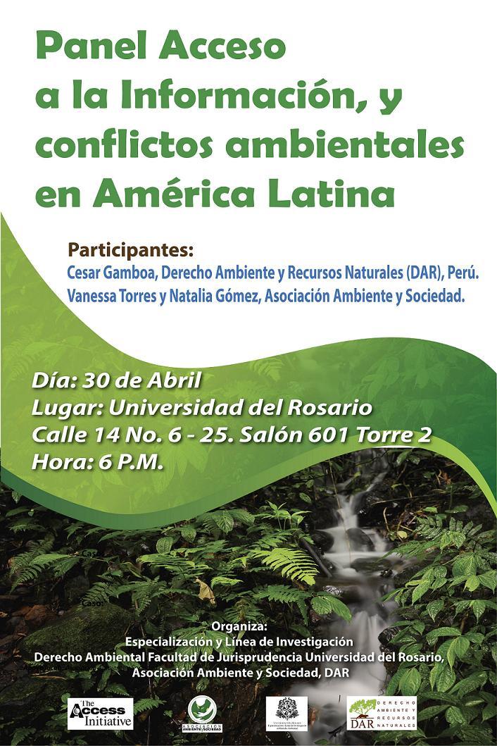 Panel Acceso a la Informacion y conflictos ambientales