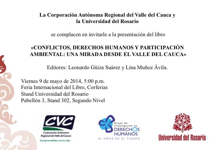 Lanzamiento libro Conflictos Ambientales 2014
