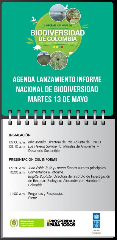 Programacion informe biodiversidad 2014