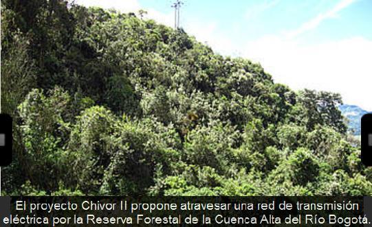 Red electrica reserva rio bogota