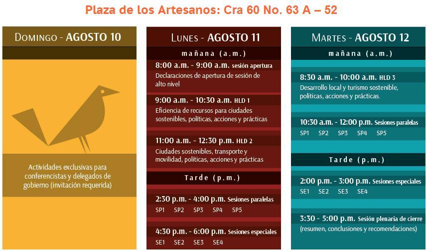 Agenda rio mas 20 Bogota 2014
