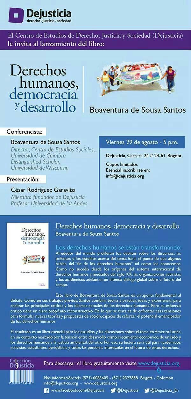 DDhh Democracia y Desarrollo 2014