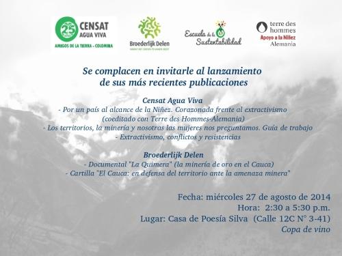 invitacion Censat 2014