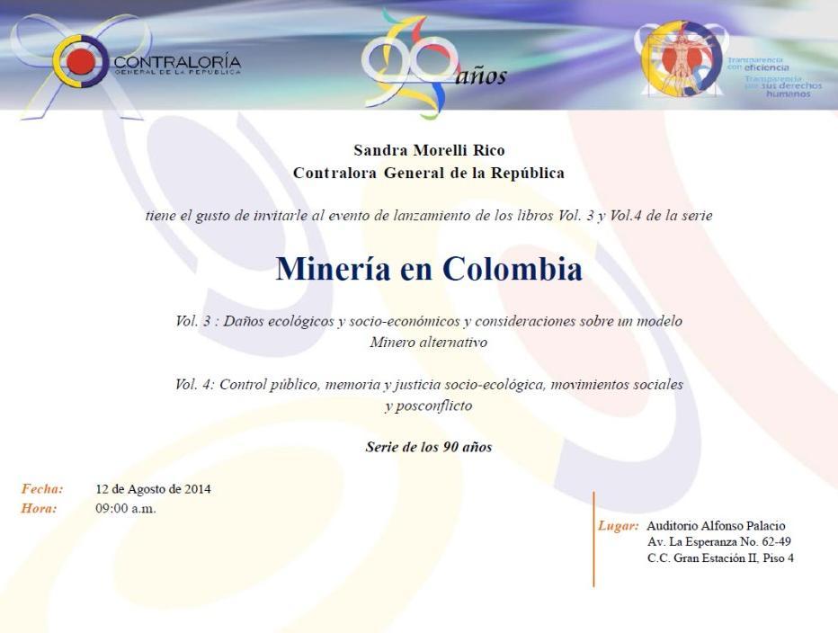 MIneria en Colombia 2014