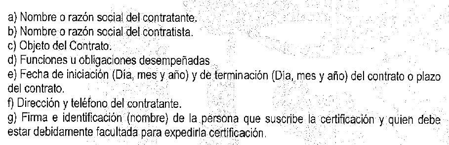 requisitos Rosario 2014