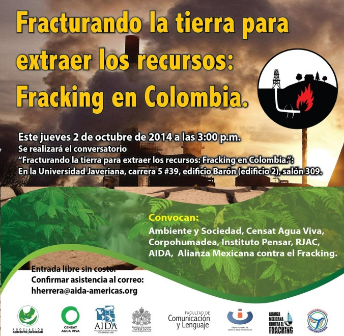 Conversatorio fracking Colombia