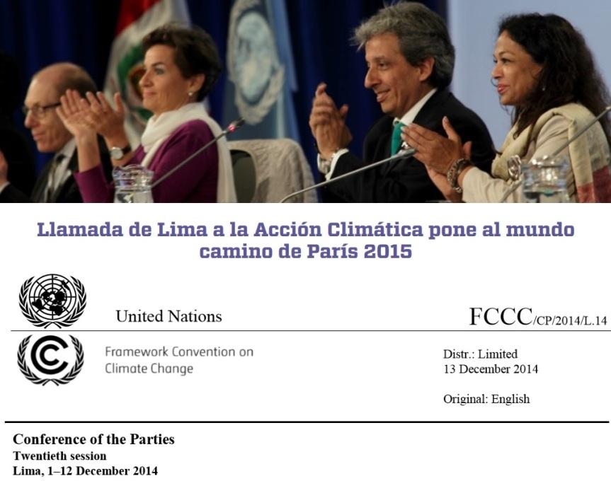 Acuerdo COP 20