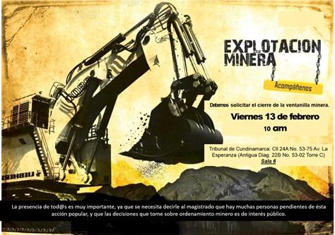 Audiencia Ventanilla minera 2015