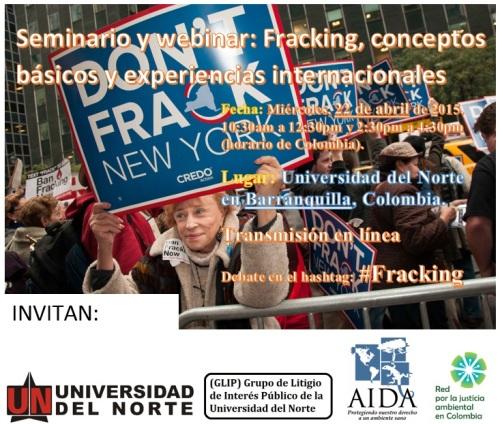 Imagen seminario fracking 2015