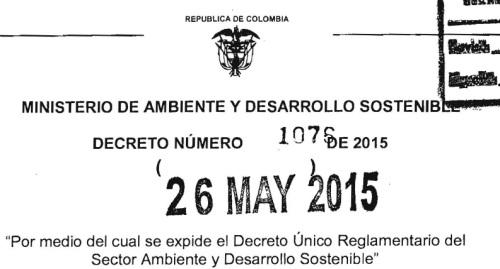 decreto reglamentario ambiental 2015