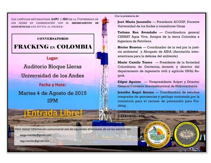 Conversatorio fracking 2015 UniAndes