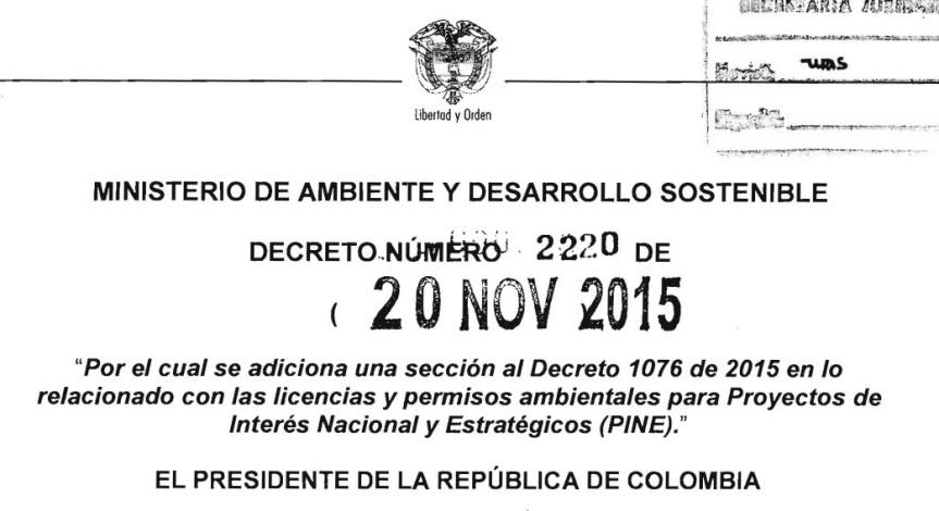 Decreto 2220 de 2015