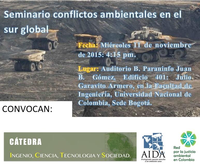 seminario conflictos ambientales