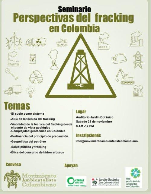 seminario fracking en colombia