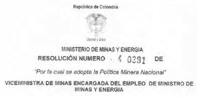 Politica nacional minera 2016