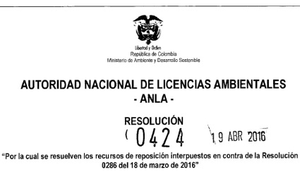RESOLUCION 0424