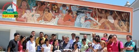 Campesinos peruanos alientan a la movilización contra el extractivismo en Colombia