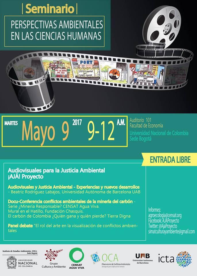 Invitación Seminario: !AJÁ! Proyecto. Audiovisuales para la justiciaambiental