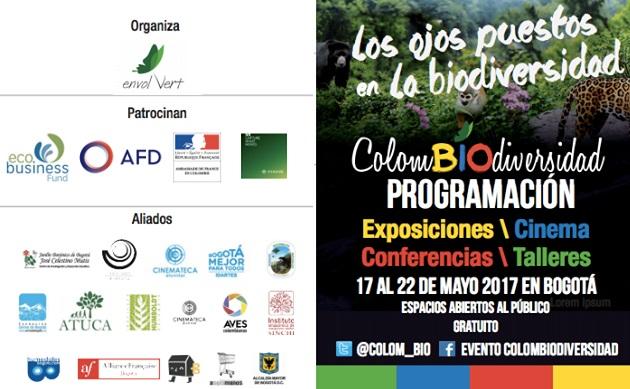 Invitación al festival Colombiodiversidad del 17 al 22 de mayo en Bogotá yMedellín
