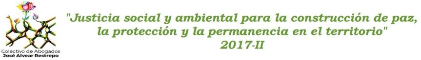 Convocatoria a curso en justicia social y ambiental para la construcción depaz