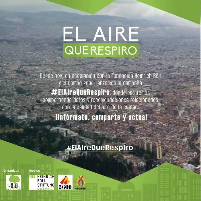Campaña #ElAireQueRespiro enBogotá