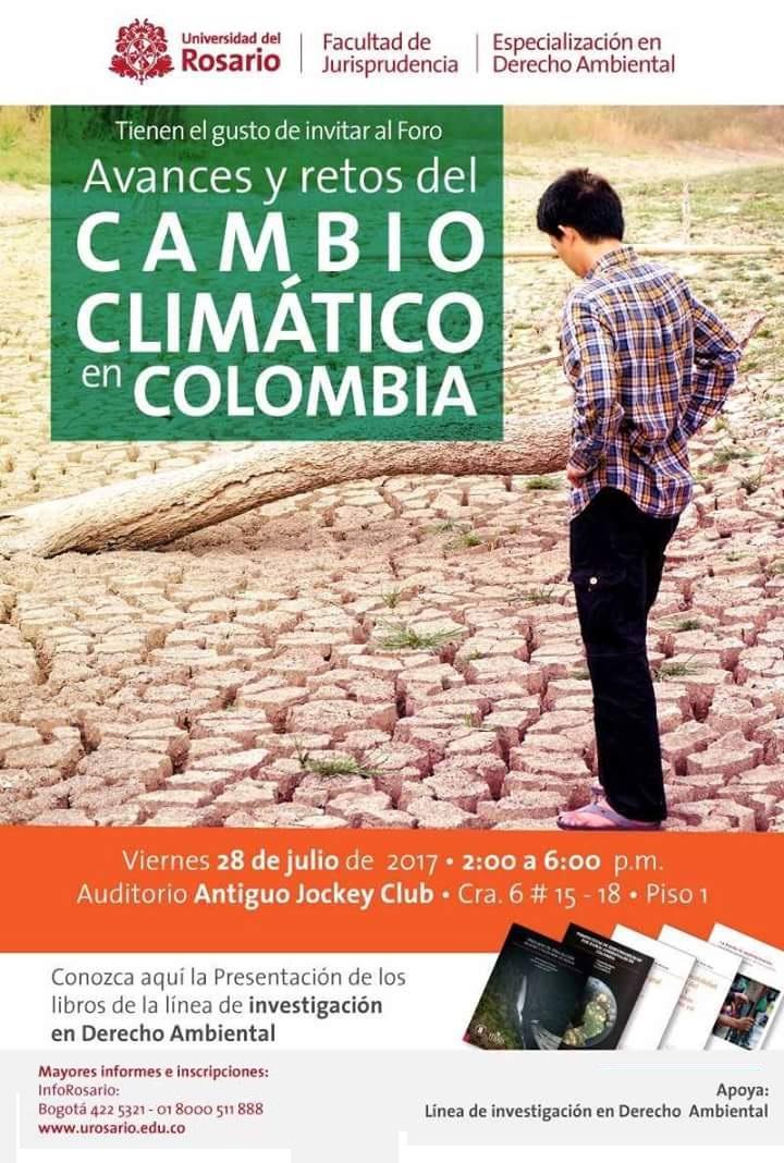 Invitación foro: avances y retos del cambio climático enColombia