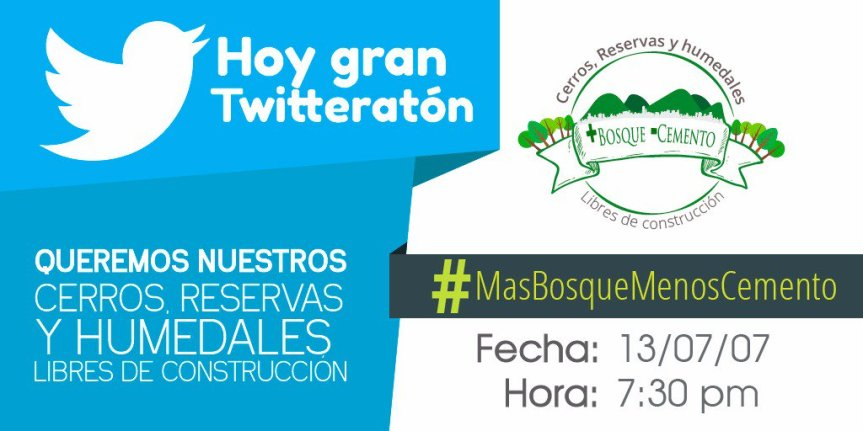 Twitteratón #MásBosqueMenosCemento