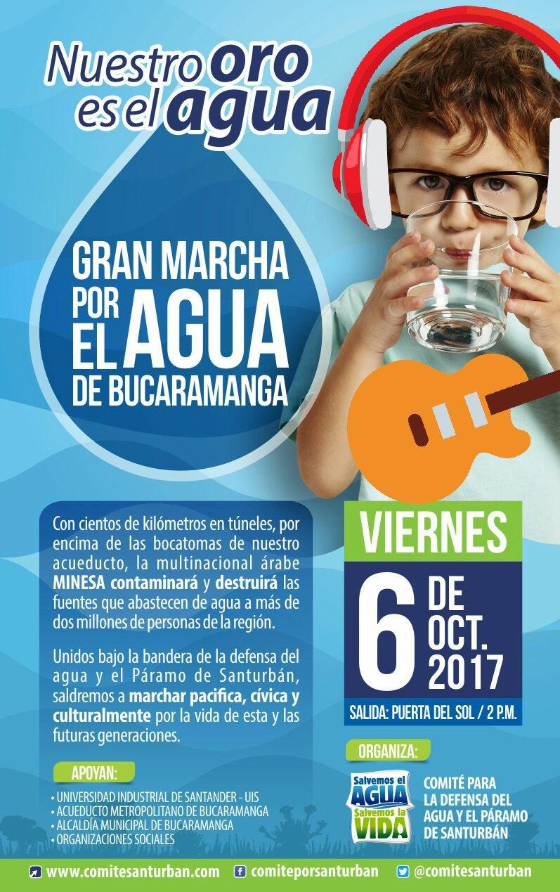 marcha agua bucaramanga 2017