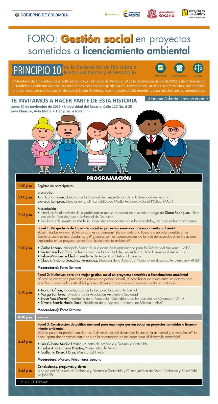 Foro: Gestión social en proyectos sometidos a licenciamientoambiental.