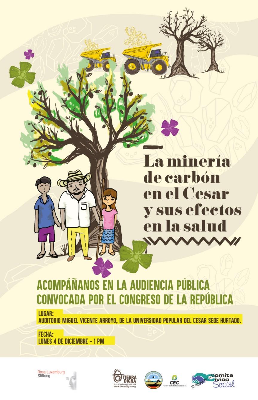 Audiencia Pública sobre la minería de carbón en el Cesar y sus efectos en lasalúd.