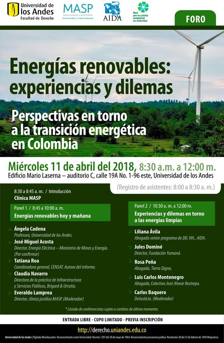 Energías renovables: experiencias ydilemas