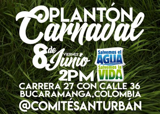 Plantón Carnaval enBucaramanga