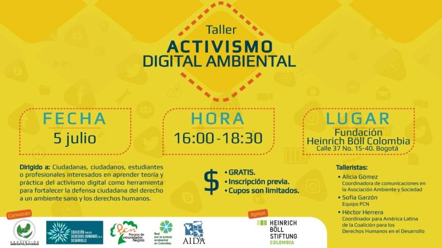 Taller Activismo DigitalAmbiental