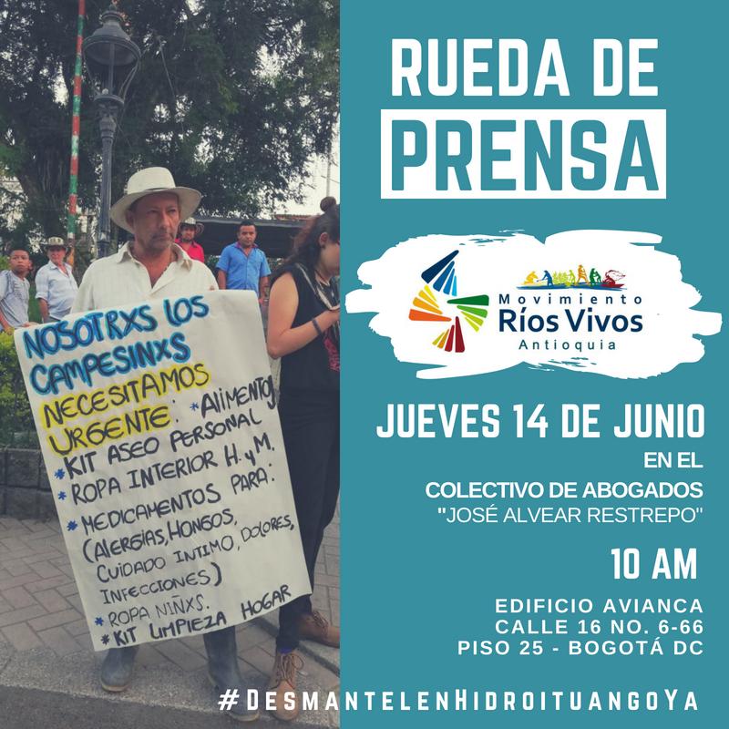 Rueda de Prensa del Movimiento Ríos VivosAntioquia