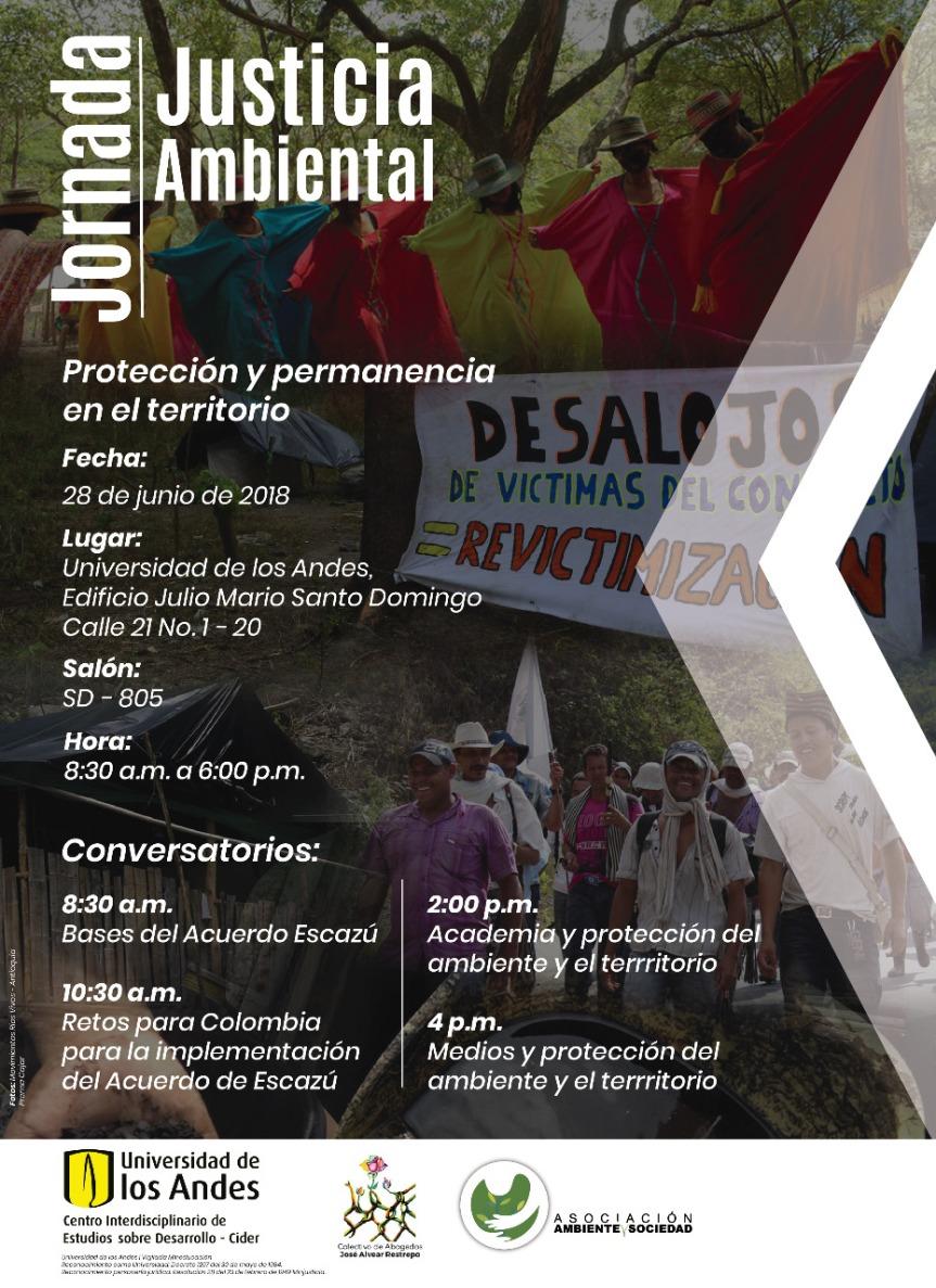 Jornada Justicia Ambiental: protección y permanencia en elterritorio.
